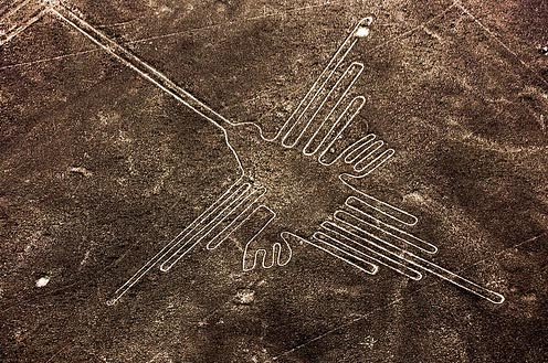 Flying Over The Nazca Lines And Geoglyphs From Ica Peru Nazca_lines_hummingbird
